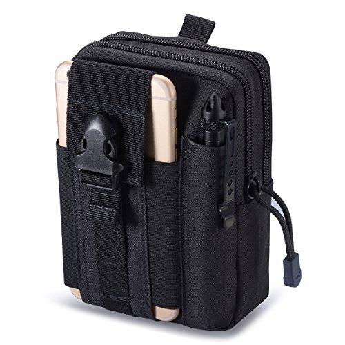 Zeato-Bolsa táctica EDC, portadispositivos para el cinturón, para teléfono móvil iPhone 6y 6Plus, 7/7Plus, Samsung Galaxy S8,S7,S6, LG, HTC y otros