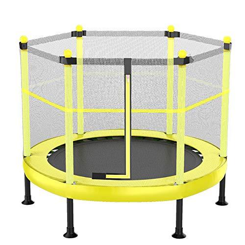 Oefentrampoline, minitrampoline, kleine trampoline voor gebruik binnenshuis, trampoline met beschermnet voor springen, voor binnen/buiten/tuin/yoga/oefeningen,1,60in