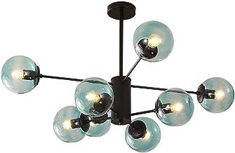 KCLQTK Sputnik Branch Chandeliers 8 Light Industrial Chandeliers Light Ceiling Fixture Fixtures Hanging Lamp Chandelier Bl...