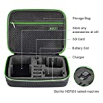 Middle Protective Carrying Case for GoPro Hero 9, 8, Hero(2018) Hero 7 Black, Hero 6,5, 4, LCD, Black, 3+, 3, 2 and… 12 CARRYING CASE FOR GOPRO CAMERA ACCESSORIES AND OTHER ACTION CAMERA:this carrying case is designed for gopro HERO 9, (2018), hero 7 black,hero 6,hero 5 black, gopro hero 4, gopro hero3, gopro hero3+, gopro hero 2, gopro HD, LCD,and other gadgets for the gopro camera KEEP YOUR MEMORIES SAFE AND SOUND USING ONE MEDIUM CASE - Our compact and easy to carry GoPro camera accessory gives you the opportunity to store your device in a safe and protective case, made to endure all the extreme action you put it through! MAKE SURE EVERYTHING YOU NEED IS AT YOUR FINGERTIPS - The incredible foam interior is specially designed to give you easy access to all the compartments. As a result, you will be able to find your accessories quickly when the action is heating up!