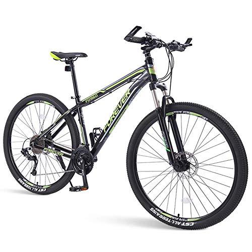 FANG Bicicleta de montaña para adultos, 33 marchas, con frenos de disco, bicicleta de montaña para hombre y mujer, verde, 29 pulgadas, color verde, tamaño 29 Inch