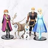 5 Unids / Lote 9-14 Cm Frozen 2 Snow Queen Elsa Anna Olaf Sven Kristoff PVC Figura De Acción Muñeca ...