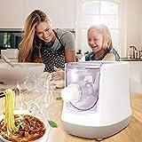 TTLIFE Máquina para Hacer Pasta Eléctrica 260W Máquina de pasta Automática Máquina de Fideos de 13 Moldes,Pantalla LCD,Inteligente y Seguro Saludable y sin Aditivos Hacer Fideos Automáticamente