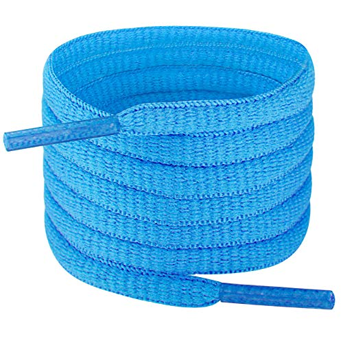 Handshop Half Round Shoelaces 1/4' - Oval Shoe Laces Replacements For Sneakers and Athletic Shoes Sports Royal Blue 45.3 inch (115cm)