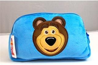 MASHA UND BEAR Beauty Tasche Stroller Plush Hellblau cm. 21X13X7- 154857 ORSO