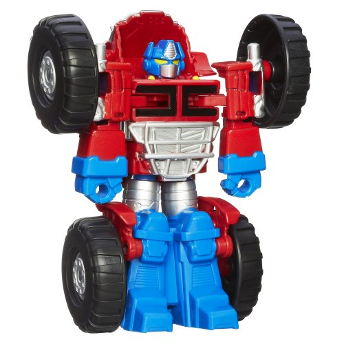 Playskool Heroes Transformers Rescue Bots Optimus Prime Figure,Blue/Red/Sliver,2.36 x 6.5 x 9.49 inches