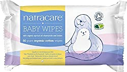 Natracare organic cotton baby wipes are very soft Effective cleansing wipes Its Biodegradable Made from organic cotton enriched with organic essential oils of apricot, linden, & chamomile
