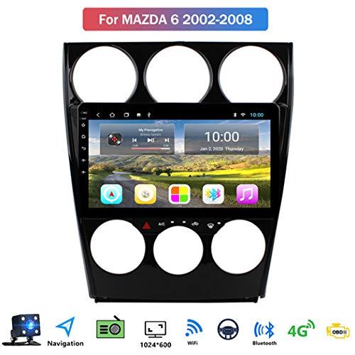 Buladala Android 8.1 Quad Core GPS Autoradio Navigazione Stereo per Mazda 6 2002-2008, con 9'' Touch Screen Supporto Sistemi Video/Chiamate Bluetooth/WLAN USB,WiFi: 1+16gb