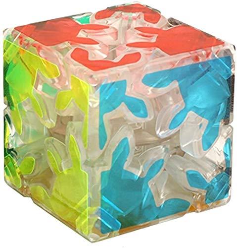 RENFEIYUAN Nuevo Azul noctilucente/Luminoso 2x2x2 Engranaje Juguete Educativo Liso ma Juego Rubik Cubo (Color : Clear)