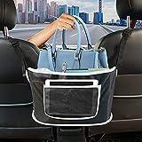 Car Net Pocket Handbag Holder, Car Purse Handbag Holder Seat Back Net Bag Between Seats,Car Organizers and Storage Front Seat Barrier of Backseat Pet Kids (Black)
