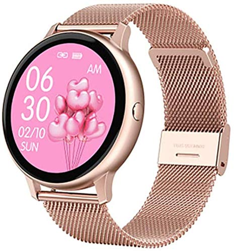 JSL Reloj inteligente para mujeres y hombres, Android, iOS, Bluetooth, impermeable