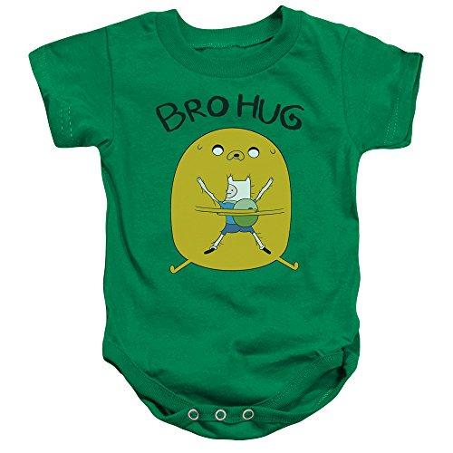 Adventure Time - - Enfant en Bas âge, Hug Hug Onesie, 6 Months, Kelly Green