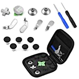 PUSOKEI Professional Replacement Button Kit, 15 in 1 Mini Thumb Stick Cap+Cross-Type Directional Buttons+Magnetic Base for PS4/ Xbox ONE Joystick