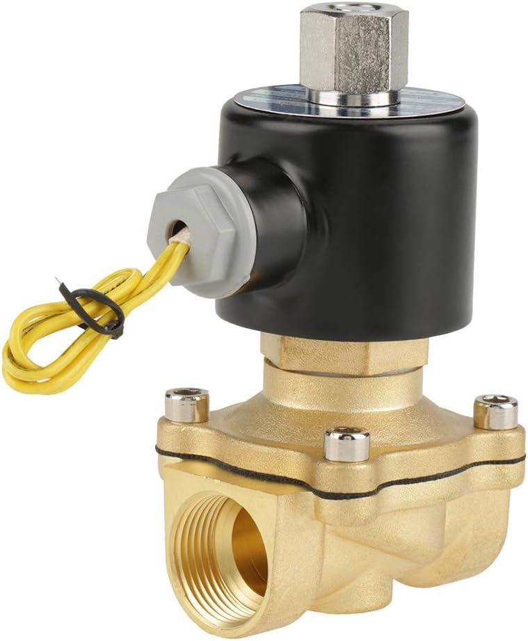 Válvula de solenoide de agua, solenoide de 12 voltios sellada sensible y liviana, G3 / 4 para agua y aire