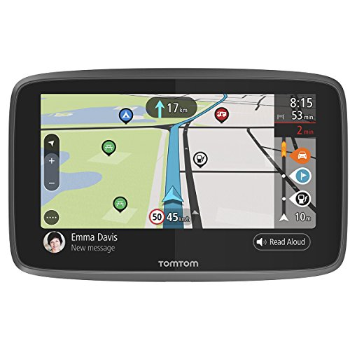 TomTom Campervan and Caravan Sat Nav GO Camper with Campervan and Caravan POIs, Updates via Wi-Fi, Lifetime Traffic and Speedcam Warnings via SIM Card, World Maps