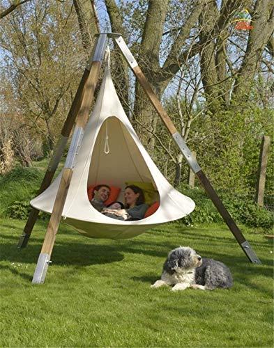 JFZCBXD Niños Adultos Camping Tienda de los Indios árbol Capullo del Presidente Columpio Que cuelga Cubierta Tienda al Aire Libre Hamaca Muebles del Patio Sofá Cama