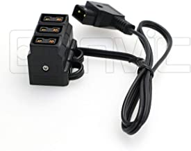 Eonvic Male D-tap B Type to 3-Port Female P-Tap D-Tap Hub Adapter Splitter for Photography Power