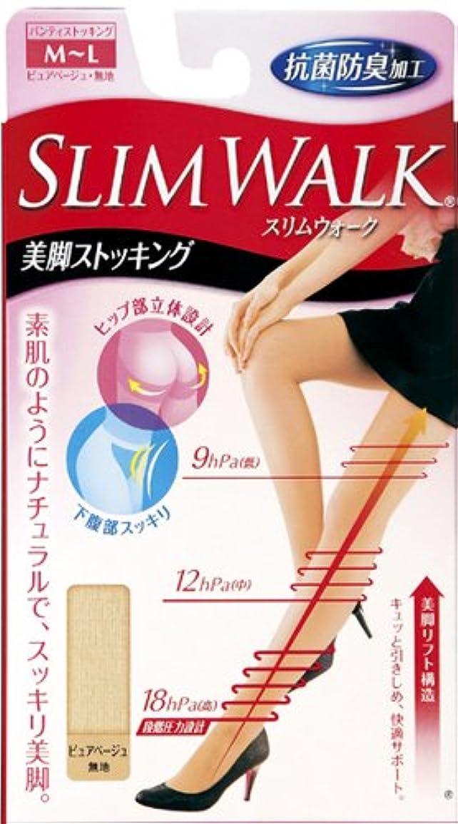 伝統的ベリーコーンウォールスリムウォーク 美脚ストッキング M-Lサイズ ピュアベージュ(SLIM WALK,pantyhose,ML)