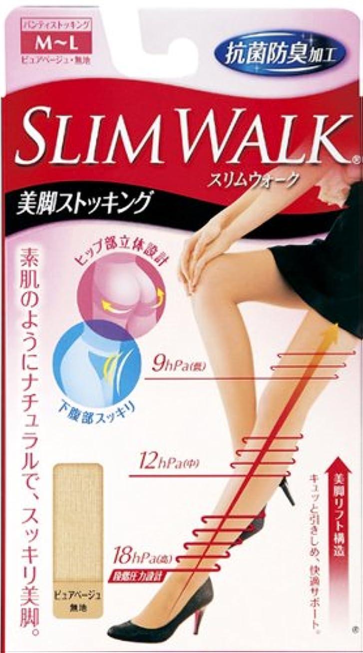 緩やかな彼女施設スリムウォーク 美脚ストッキング M-Lサイズ ピュアベージュ(SLIM WALK,pantyhose,ML)