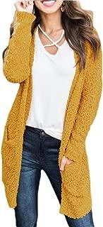 Women Loose Winter Warm Pockets Solid Cardigan Coat Outwear Jacket