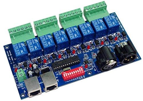 8CH DMX Relay Switch Dmx512 Controller Relay Output DMX512 Relay Control 8 Way Relay Switch(max 10A)