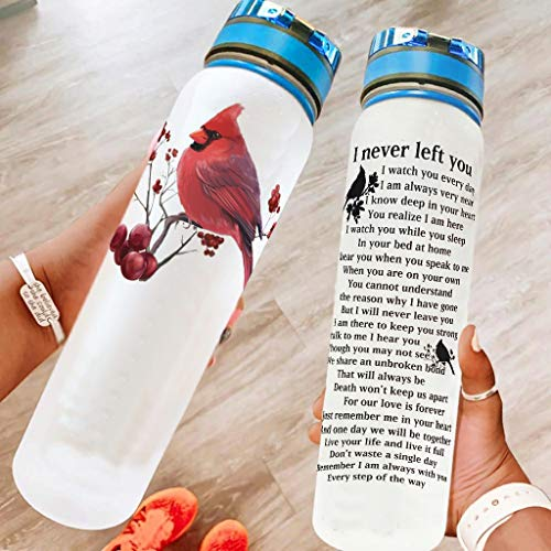 A prueba de fugas I Never Left You botella de deporte portátil – Botella de agua con correa Crayy para ciclismo, color blanco, 1000 ml