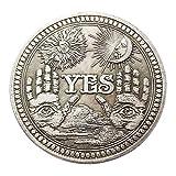 Manyao Yes or Noスカル記念コイン お土産チャレンジコレクタブルコインコレクションアートクラフト