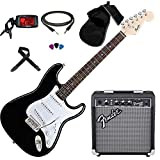 FENDER Squier Stratocaster Bullet SSS BK KIT AMPLIFICATORE + ACCESSORI + ACCORDATORE