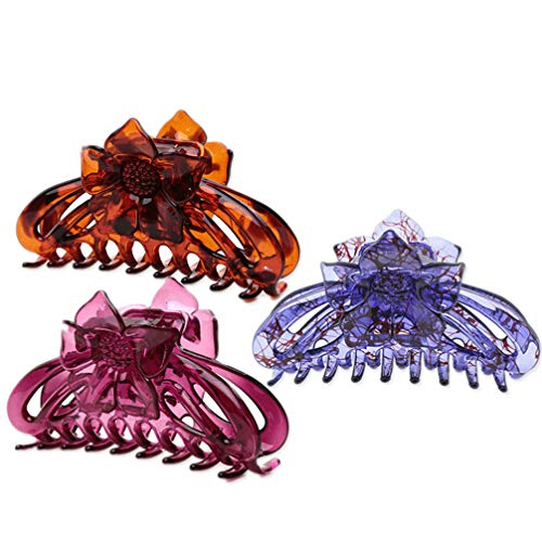 Lurrose 3 paires de cheveux féminins Classical Blossom pattes accessoires accessoires accessoires Accessoires pour le nettoyage quotidien du visage