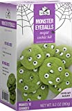 Monster Eyeballs Sugar Cookie Kit - In the Mix - 9.2oz (260g) Baking Kit - Makes 12 Cookies - Includes Candy Eye Decorations -Halloween Themed Gourmet Cookies for Parties