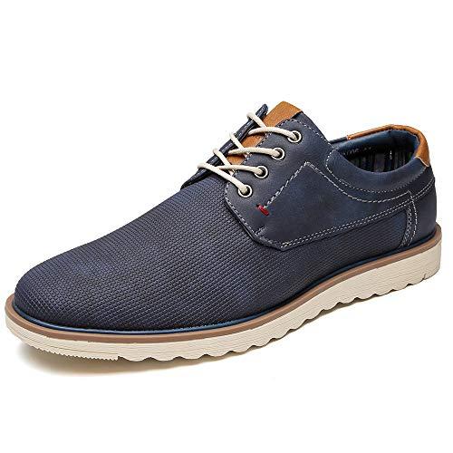 DECARSDZ Zapatos de tacón plano con cordones para hombre, estilo informal, para...