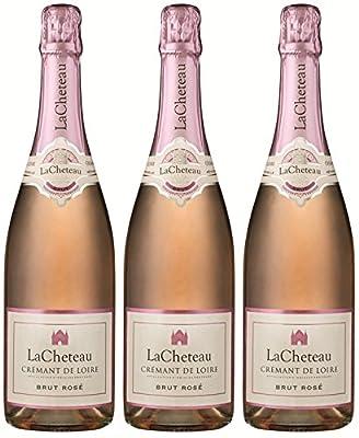 LaCheteau - Rosé Sparkling Wine - Dry - 3 x 75 cl