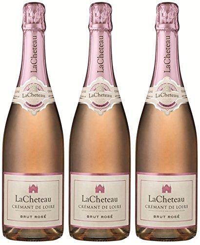 LaCheteau, Brut Rosé Crémant de Loire - 3 bottiglie da 750 ml