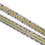 ERCZYO 5M LED Strip IP20 2835 SMD 240leds / m Doble Fila 480leds / m 300/600/1200/2400 LED 12V 24V Alta luz LED Flexible con Blanco, Blanco cálido