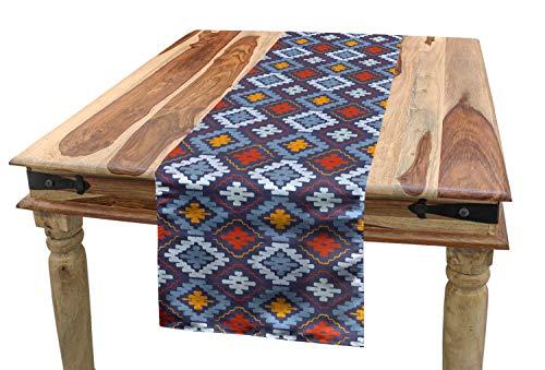 ABAKUHAUS Stammes Tischläufer, Mexikanische traditionelle Kunst, Esszimmer Küche Rechteckiger Dekorativer Tischläufer, 40 x 180 cm, Mehrfarbig