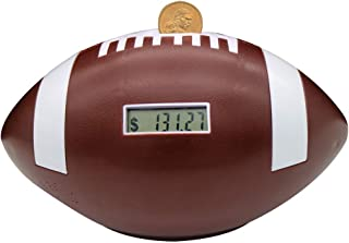 Flyingwoods Automatic Counting Football Coin Bank. Great Gift Works with All U.S Coins