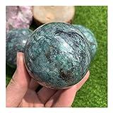 raro Di alta qualità naturale dioptasi della palla di cristallo che guarisce la guarigione smeraldo di rame di cristallo di cristallo della sfera di reiki dell'energia per la casa ( Size : 5.5-6cm )