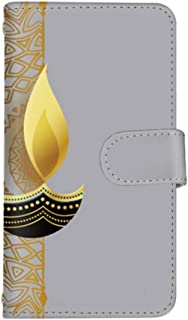 スマ通 nova 3 PAR-LX9 国内生産 カード スマホケース 手帳型 HUAWEI ファーウェイ ノバスリー 【A.グレー】 レース 曼荼羅 ゴールド vc-965_sp