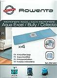 Rowenta ZR816001 Boîte de 4 Sacs Microfibres pour Collecto & Wet & Dry 19L