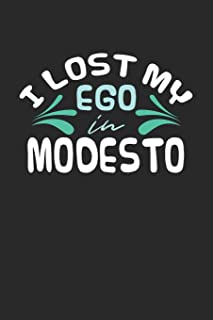 I lost my ego in Modesto: 6x9 - notebook - dot grid - city of birth