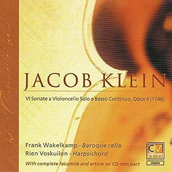 Jacob Klein: VI Sonate a Violoncello Solo & Basso Continuo, Op. 4
