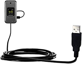 USB Data Hot Sync Straight Cable for the Samsung M400 with Charge Function – Two functions in one unique Gomadic TipExchange enabled cable