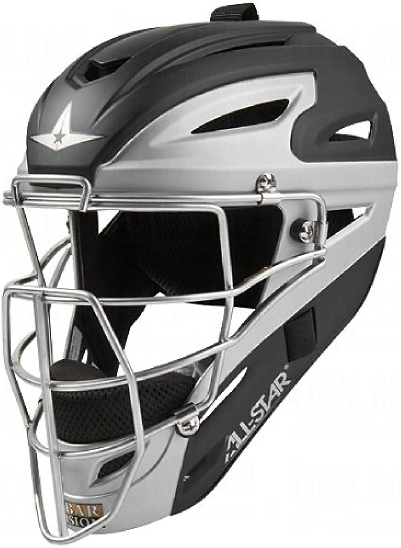 All Star System 7 Matte Youth Catchers Helmets Black Grey