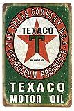 DiiliHiiri Cartel de Chapa Vintage Decoración, Letrero A4 Estilo Antiguo de metálico Retro. (Texaco Green)