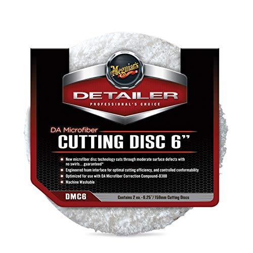 Meguiar\'s DMC6 DA Microfibre Cutting Disc 6 Zoll Mikrofaser-Polierpad, 2-er Pack