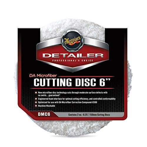 Meguiar's DMC6 DA 6' Microfiber Cutting Disc, 2 Pack