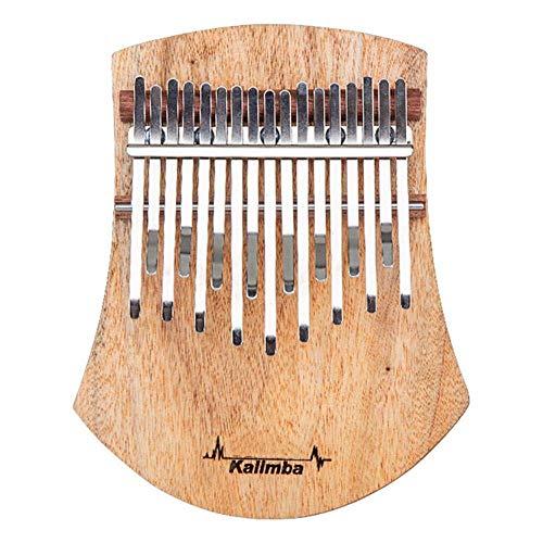 Dirgee Kalimba 17 Tasten Daumen Klavier, Holzholz-Musikinstrument, Musikinstrument Geschenke for Kinder Erwachsene Anfänger mit Studienanleitung und Tuning Hammer
