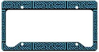 CafePress Celtic Knot Blue Aluminum License Plate Frame, License Tag Holder