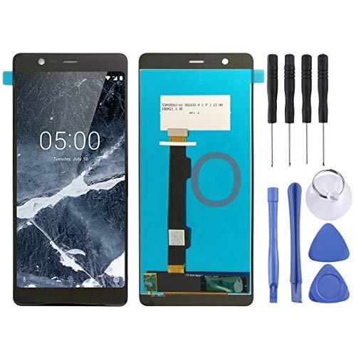 Teléfonos Móviles piezas de repuesto Pantalla LCD Pantalla de repuesto pa panel LCD y digitalizador Asamblea completa for Nokia 5.1 TA 1027 1044 1053 1024 1008 1030 1109 (Negro) ( Color : Black )