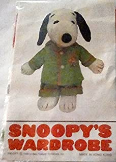 "Snoopy's Wardrobe Extremely Rare! Peanuts Outfit for 11"" Plush Snoopy - Green Pajamas w Woodstock Embellishment"